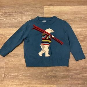 Gap size 12 to 18 months polar bear sweater